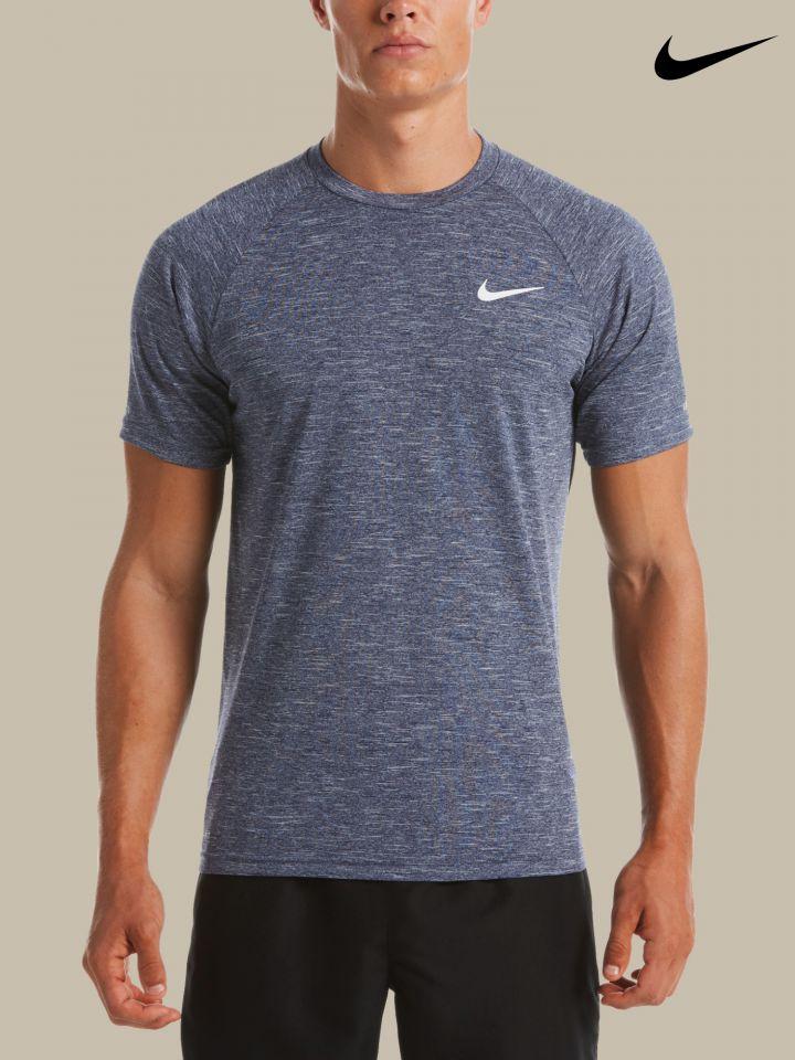 NIKE חולצת טי שירט קצרה להגנה מהשמש / גברים