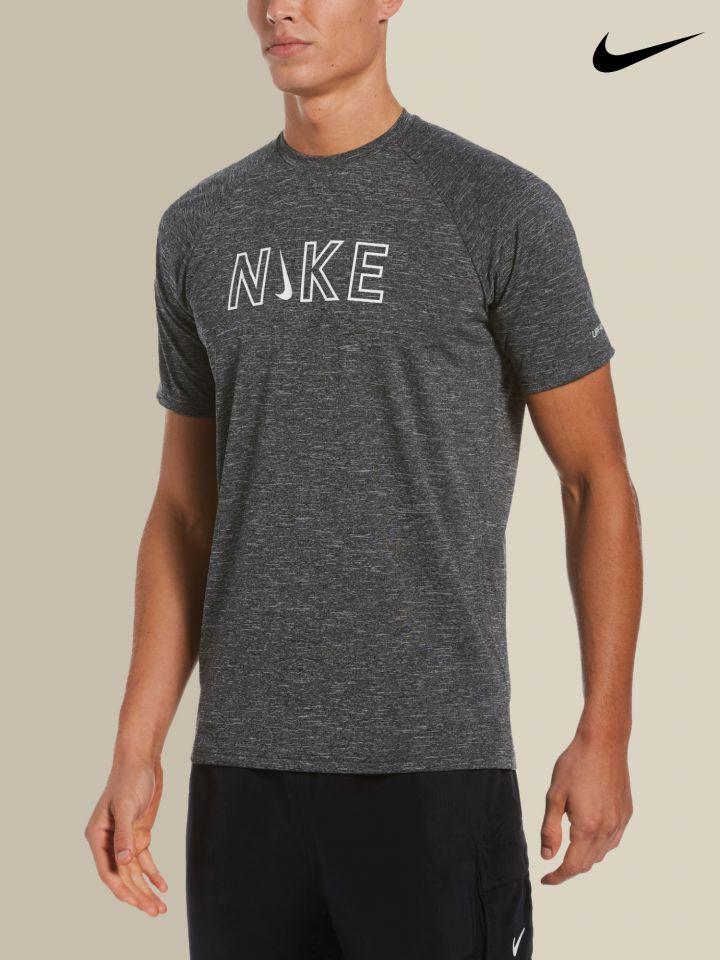 NIKE חולצת טי שירט להגנה מהשמש לוגו / גברים