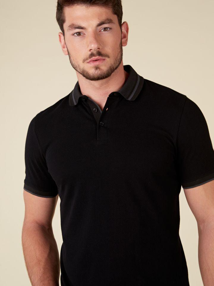 חולצת פולו טקסטורה