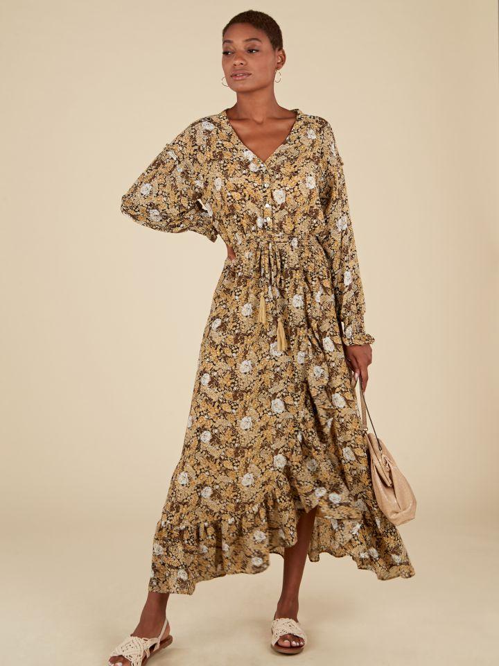 שמלת מקסי מודפסת