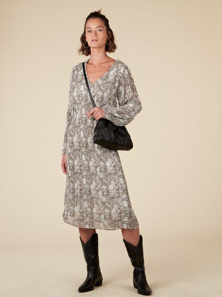 שמלת פליסה מידי