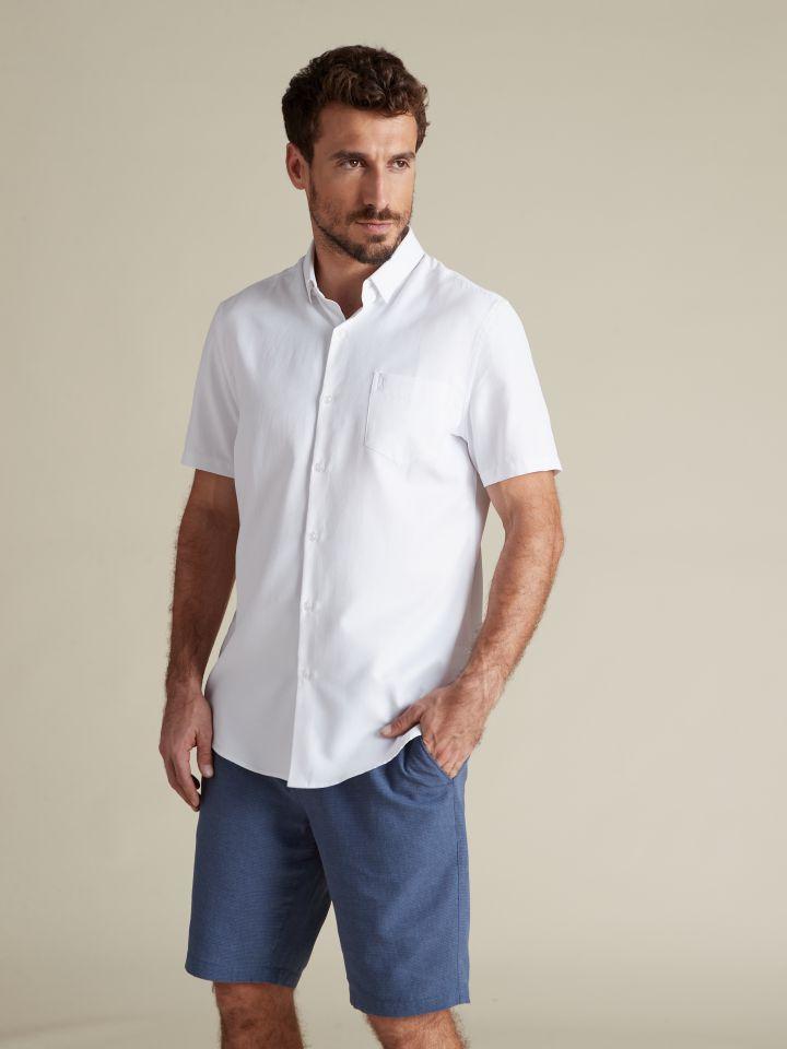 חולצה מכופתרת EASY CARE לבנה