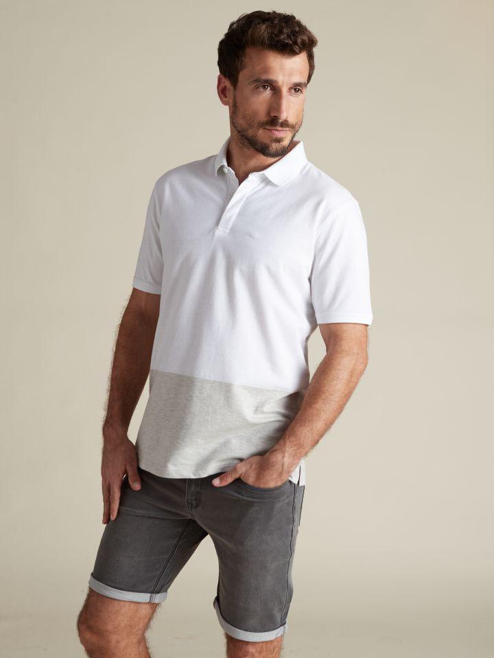 חולצת פולו ג'קארד