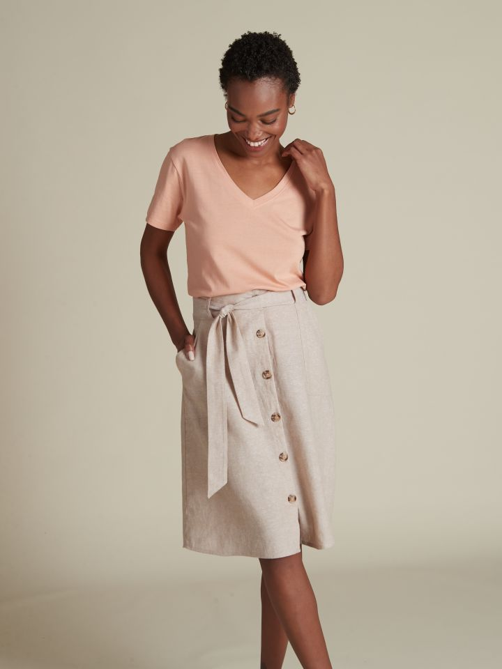 חצאית מידי פשתן