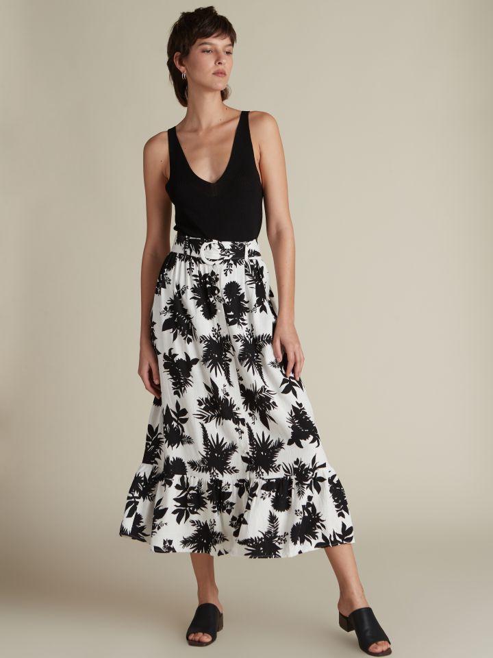 חצאית מקסי פרחונית