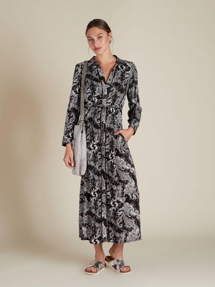 שמלת מקסי דפוס פייזלי