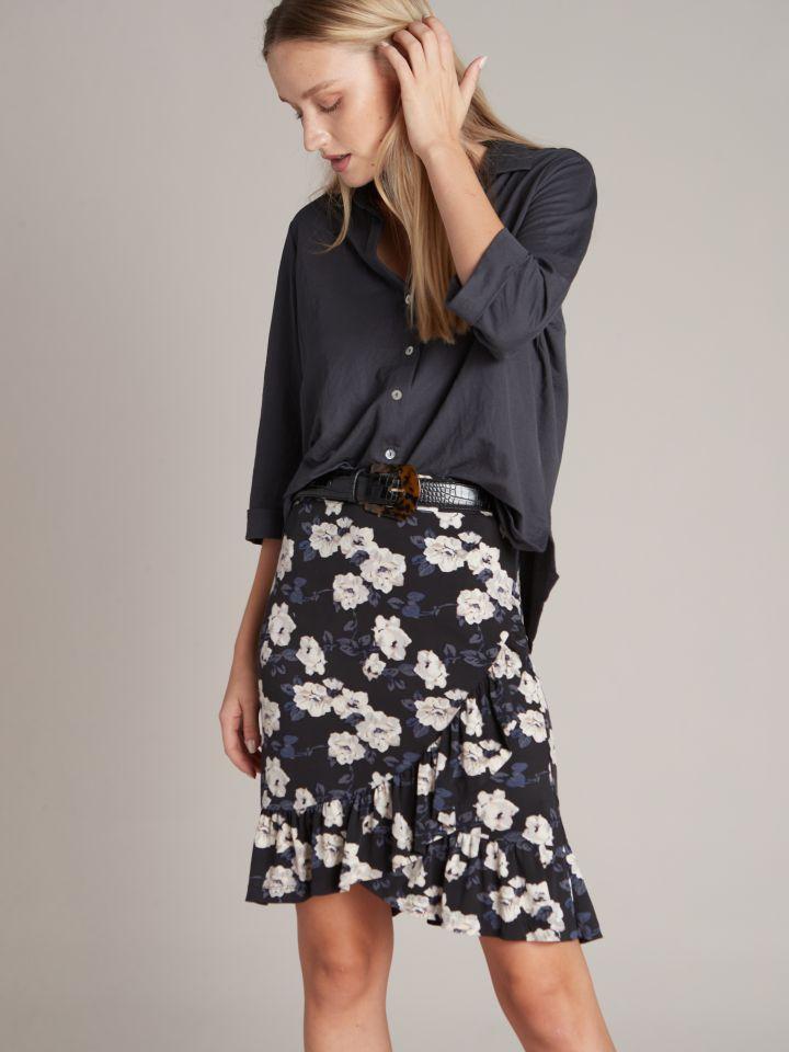 חצאית מיני פרחונית