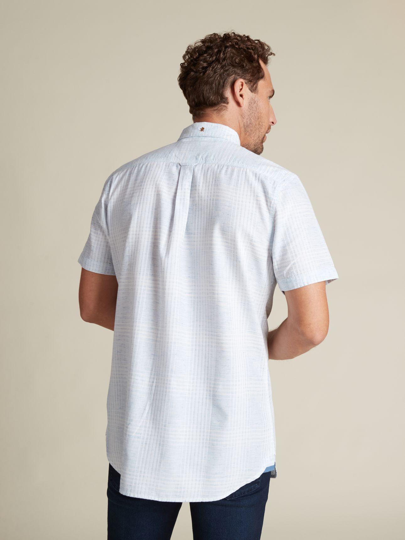 חולצה מכופתרת משבצות בהירות