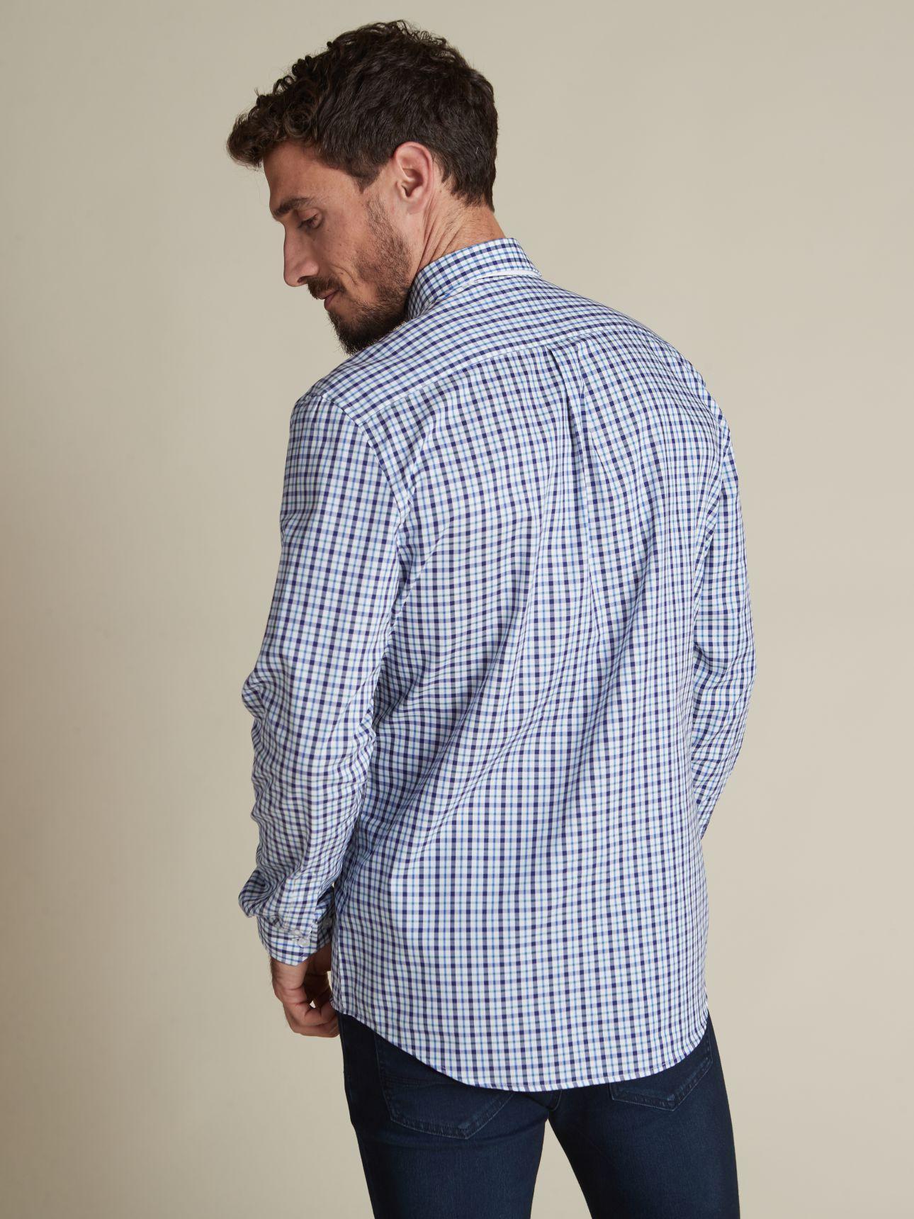 חולצה מכופתרת G14 משבצות