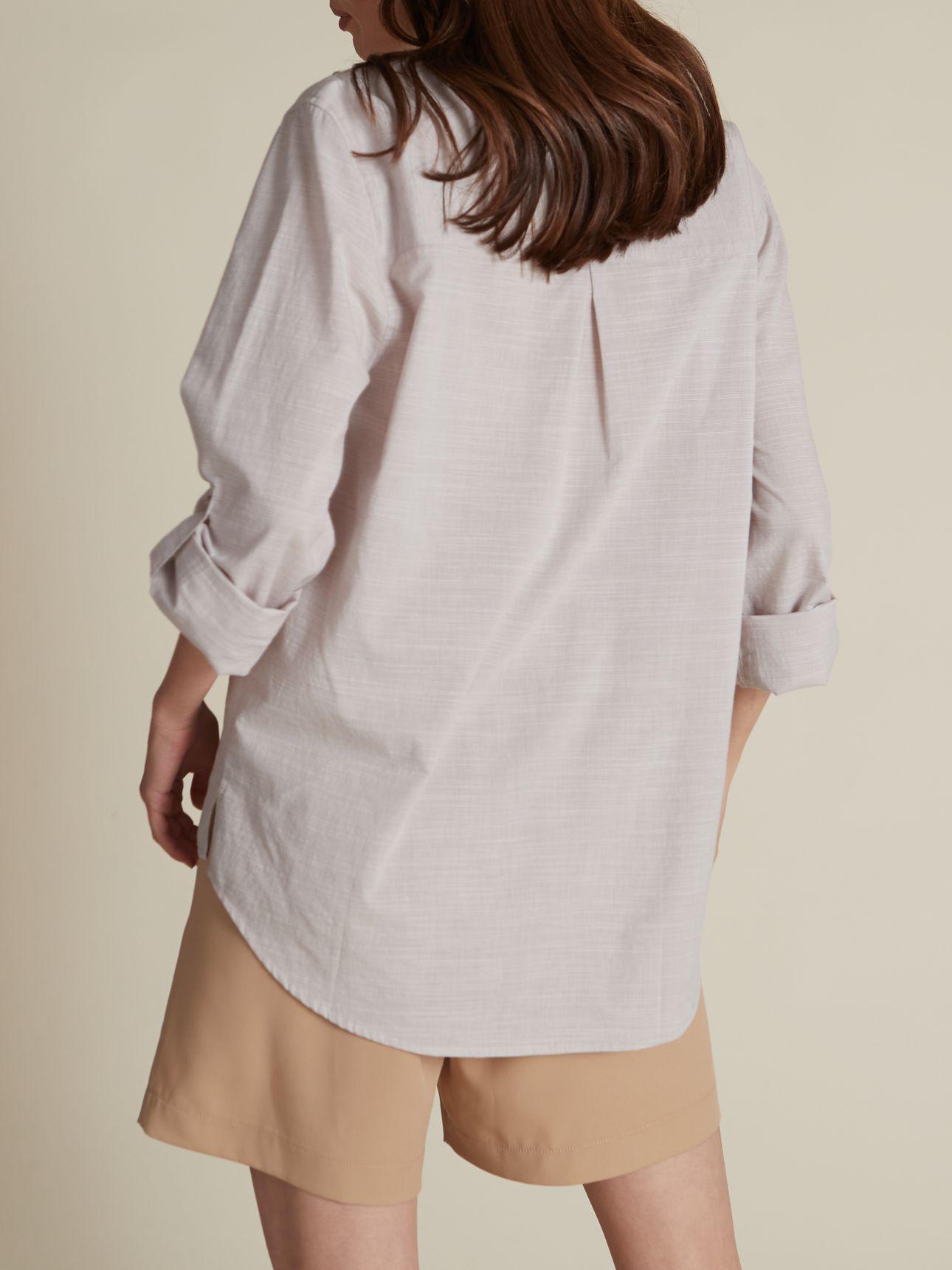 חולצת אריג חצי כפתרה