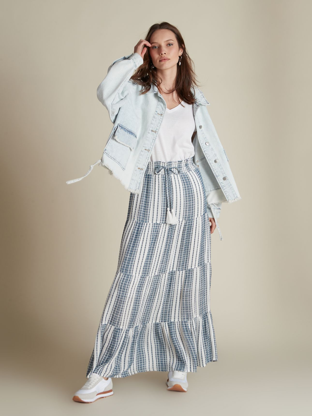 חצאית מקסי פסים